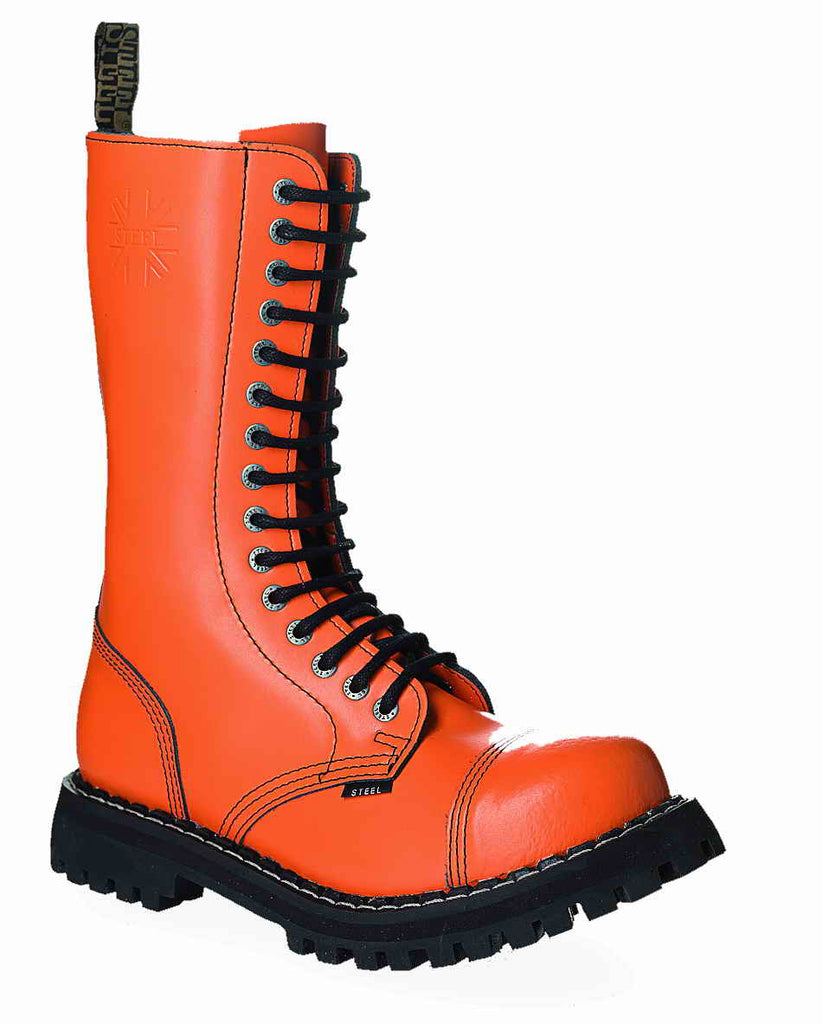 ORANGE 15-eyelet Boots Steel Toe