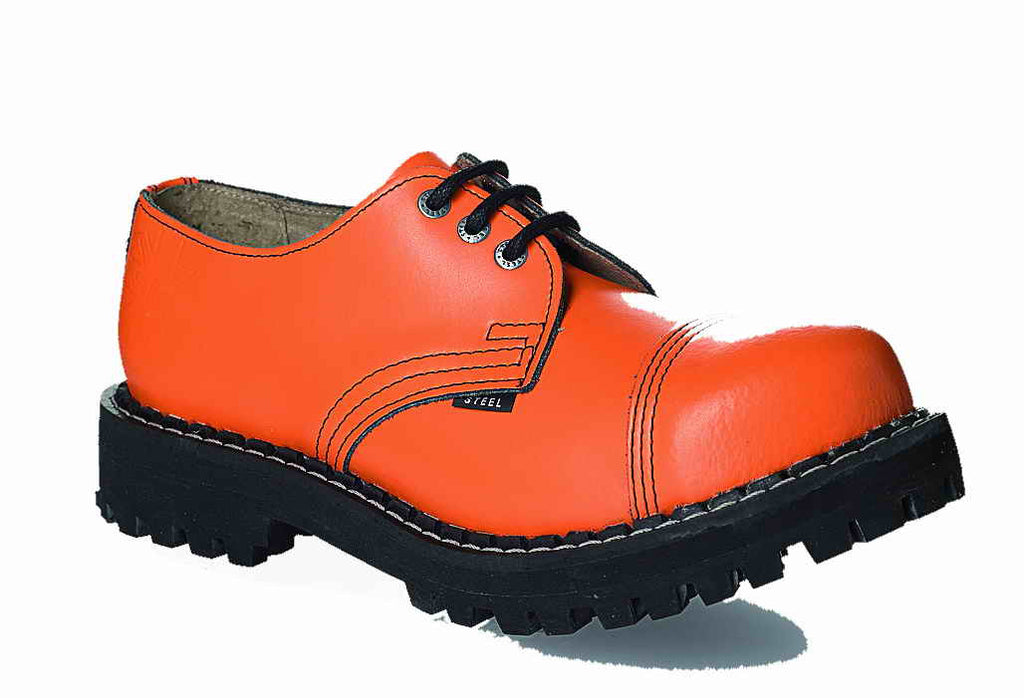 ORANGE 3-eyelet Shoes Steel Toe
