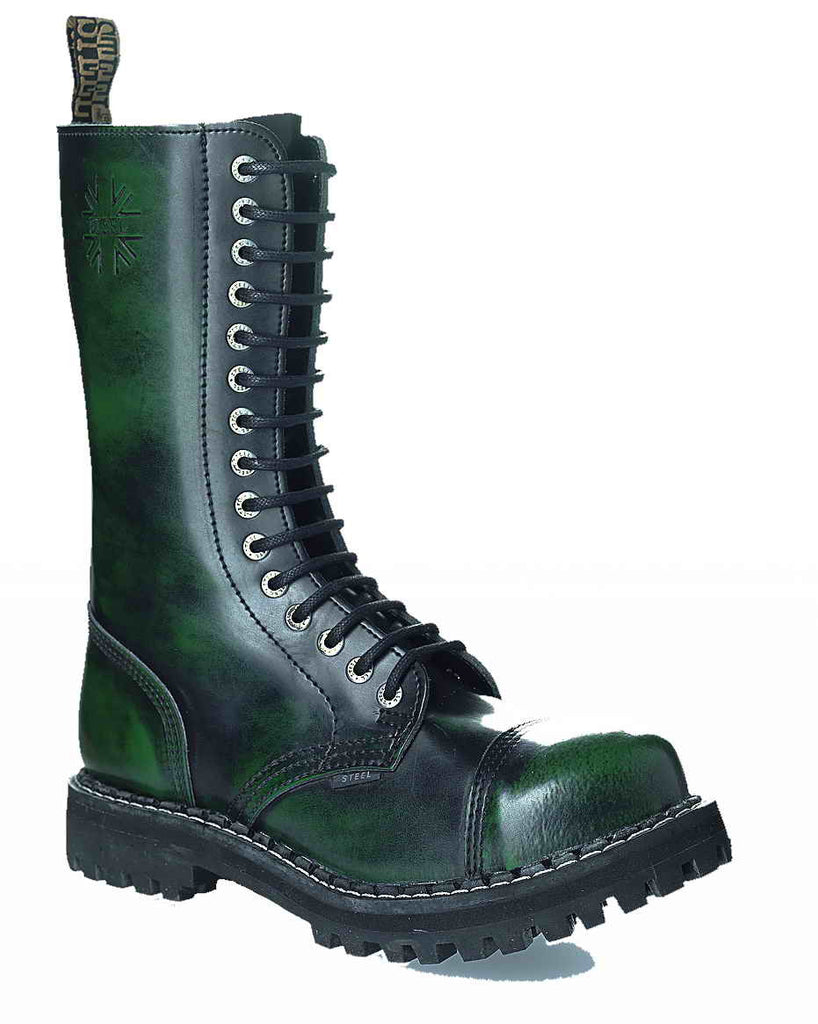 GREEN URBAN 15-eyelet Boots Steel Toe