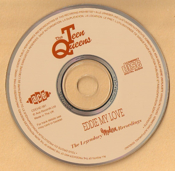 TEEN QUEENS (THE) - EDDIE MY LOVE - The Legendary Recordings Collection CD