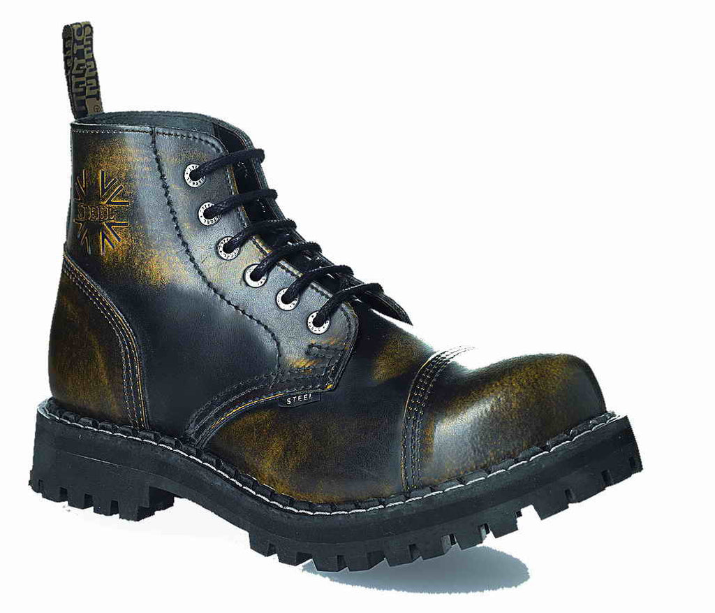 YELLOW URBAN 6-eyelet Shoes Steel Toe