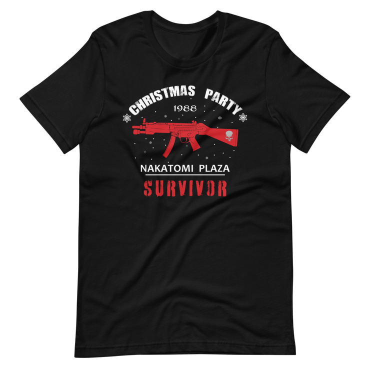 Black T-Shirt Die Hard Nakatomi Towers, Plaza Christmas, Xmas Party survivors ultimate T shirt