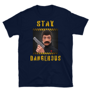 Navy , Action Man, GI Joe T-Shirt, 70's action figure, stay dangerous, hand gun owner, classic toys