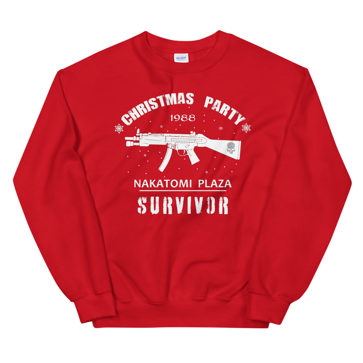 Red sweatshirt, Die Hard Nakatomi Plaza Christmas, Xmas party, Survivors party, fun, novelty.