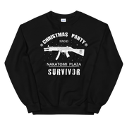 Black sweatshirt, Die Hard Nakatomi Plaza Christmas, Xmas party, Survivors party, fun, novelty.