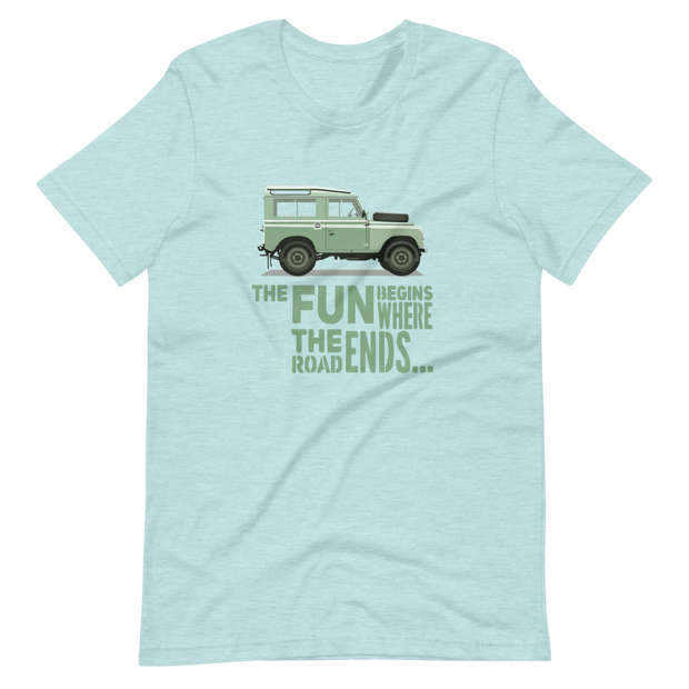 Land Rover Where the road ends the fun begins T-Shirt