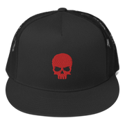 Black Baseball cap, Snap back with Red Zero-Fux Skull