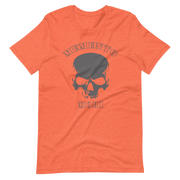 Orange T-Shirt, Memento Mori, Skull Crossbones, Pirate Zero-Fux Pirate