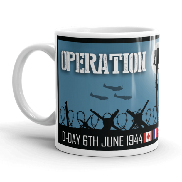 D-Day, Operation Overlord, Omaha, Utah, Juno, Gold, Sword beaches, 6th June 1944, War Veteran, Never Forget, Commemorative Mug