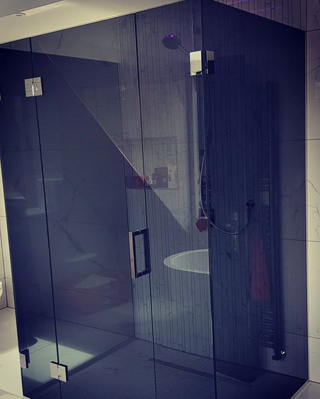 Smoked Grey Toughened Shower Glass Door