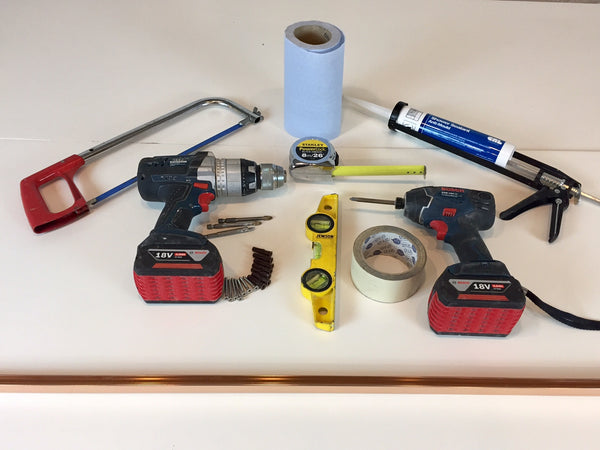 tools required for shower screen installation