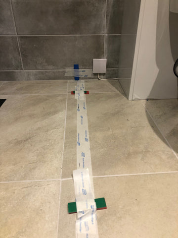 Use masking tape or similar and packers to confirm the glass heights