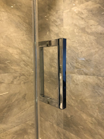 "Square 8"" pull handle for shower glass door"