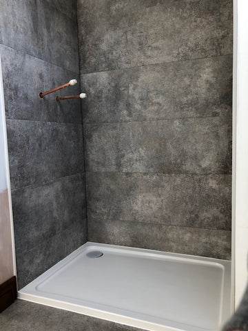 Opening space for shower glass custom install