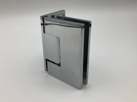 Offset back plate wall to glass shower door hinge in Chrome