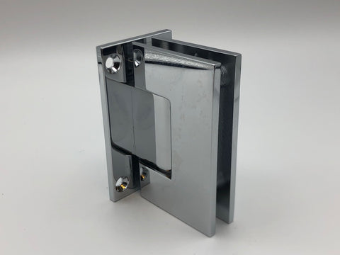 Inline back plate wall to glass shower door hinge in Chrome