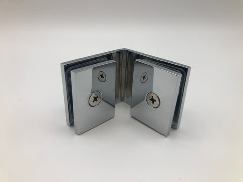 Glass to glass clamp for shower glass cubicles Chrome finish