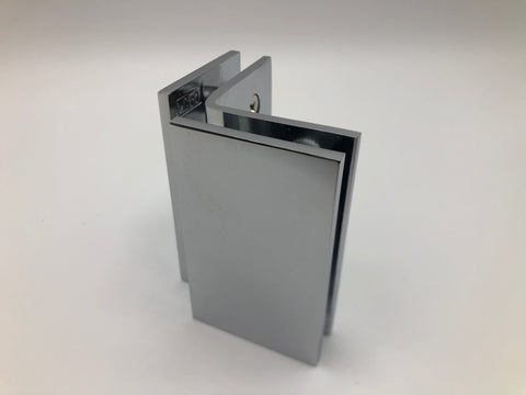 Glass to glass clamp for shower glass