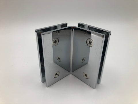 Glass to glass clamp for shower glass cubicles Chrome