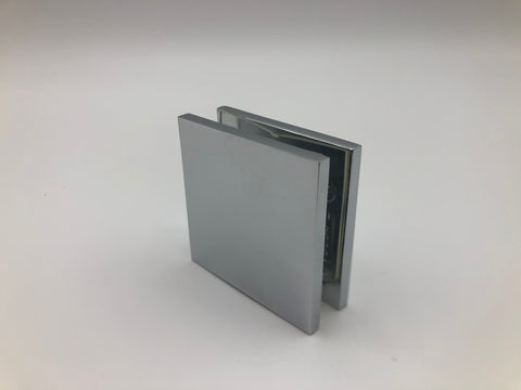 Chrome inline glass clamp for shower glass and glass panels and screens