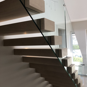 15mm Clear Toughened Internal Stair Balustrade