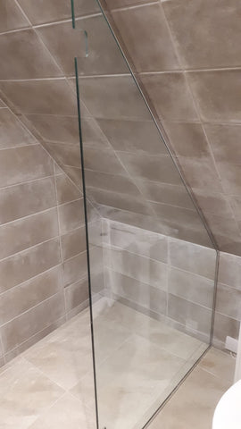 Panel for attic shower enclosure