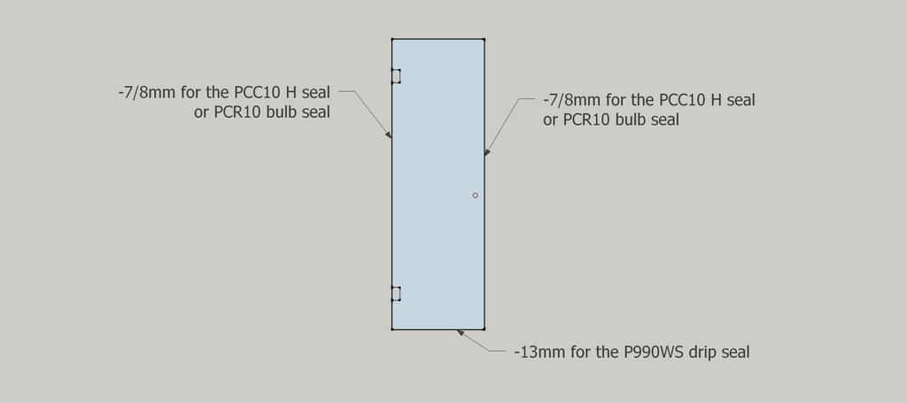 10mm shower glass door seal placements and suggested tolerances for use