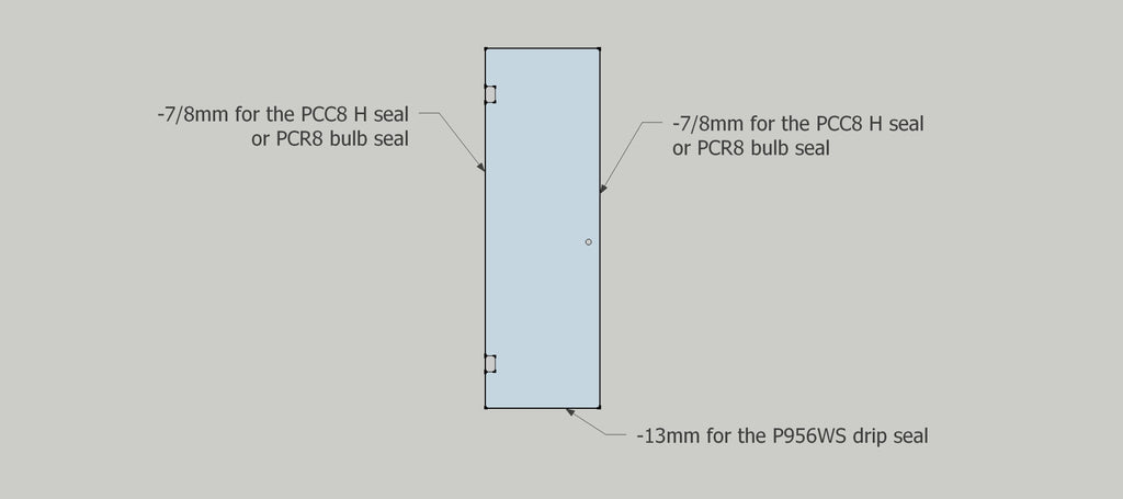 8mm shower glass door seal placements and advised tolerances