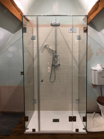 Five panel shower enclosure