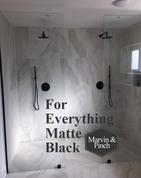 Matte Black Shower Glass Components