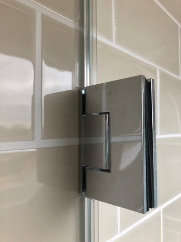 Offset back plate wall to glass Chrome glass shower door hinge