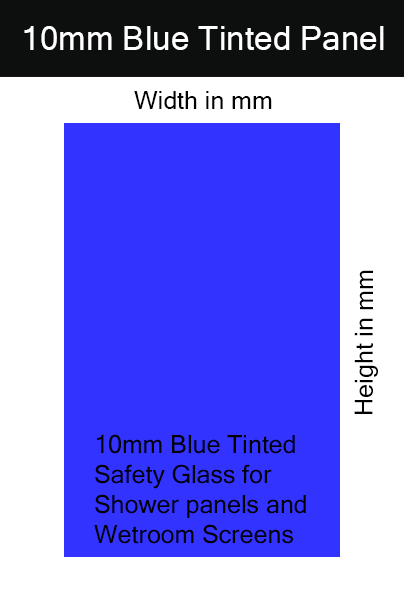 10mm Blue Tinted Toughened Glass Shower Screen / Wet Room Panel