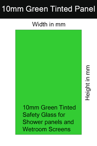 10mm Green Tinted Toughened Glass Shower Screen / Wet Room Panel