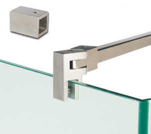 Chrome Support Bar / Reinforcement Bar by Bohle for Shower screens and panels