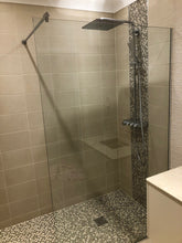 Load image into Gallery viewer, 10mm Clear Toughened Glass Fixed Size Shower Screen 600mm x 2000mm