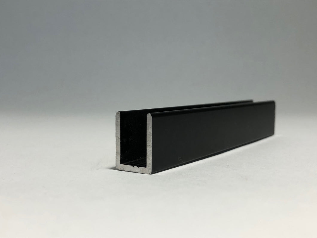 10mm U Channel - 3.66m - Matte Black - Suitable for all 10mm Glass Shower Panels, Screens and Bespoke Glass Shower Enclosures