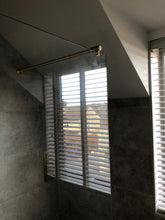 Load image into Gallery viewer, Satin Brass Wall to Glass Support Bar - 1 Metre - For 10mm & 12mm Glass Shower Screens