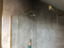 Load image into Gallery viewer, 12mm U Channel - 2.41m - Satin Brass - Suitable for all 12mm Glass Shower Panels, Screens and Bespoke Glass Shower Enclosures