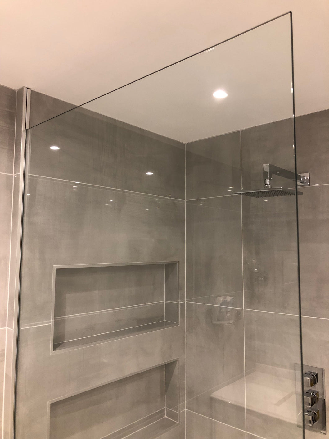12mm Clear Toughened Glass Shower Screen / Wet Room Panel