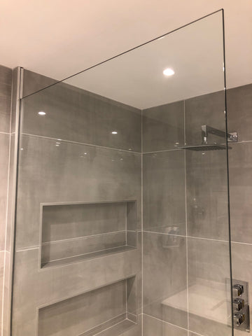 8mm Clear Toughened Glass Shower Screen / Wet Room Panel