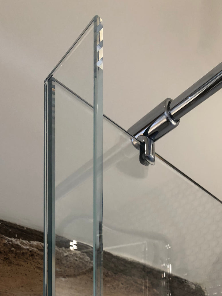 UltraClear 10mm Optiwhite Low Iron Toughened Bespoke Glass Shower Panel