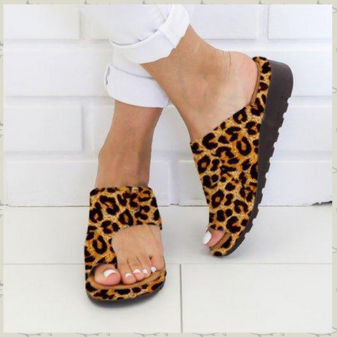 Image of Sandale Correctrice D'oignon Orthopédique-40 / Leopard - happiershop.com