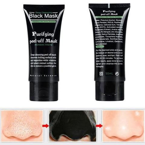 MASQUE VISAGE AU CHARBON ANTI POINTS NOIRS