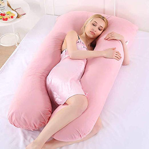 Image of Oreiller Ergonomique forme U coussin confortable Multi Position-Rose - happiershop.com