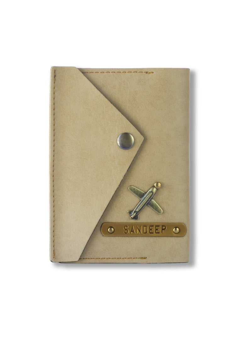 Beige Executive Passport Cover