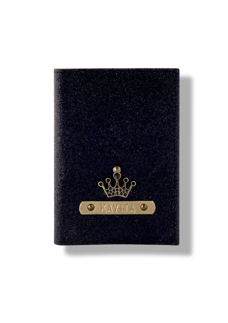 Black Glitter Passport Cover