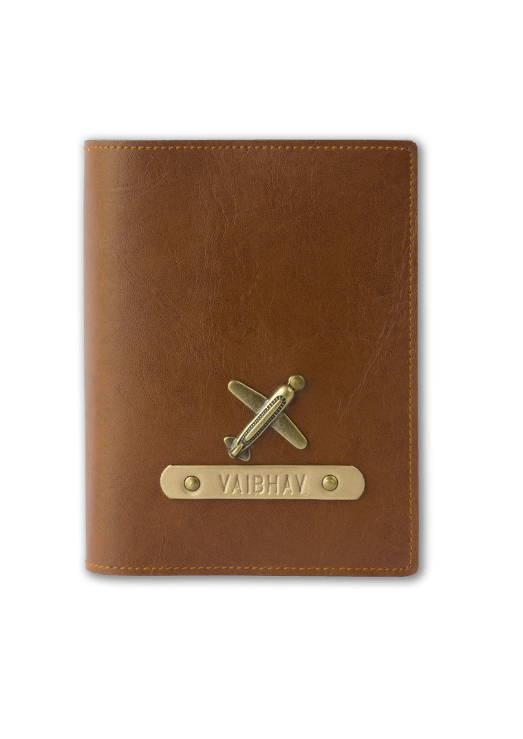 Tan Passport Cover