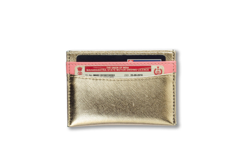 Gold and Pink Card holder