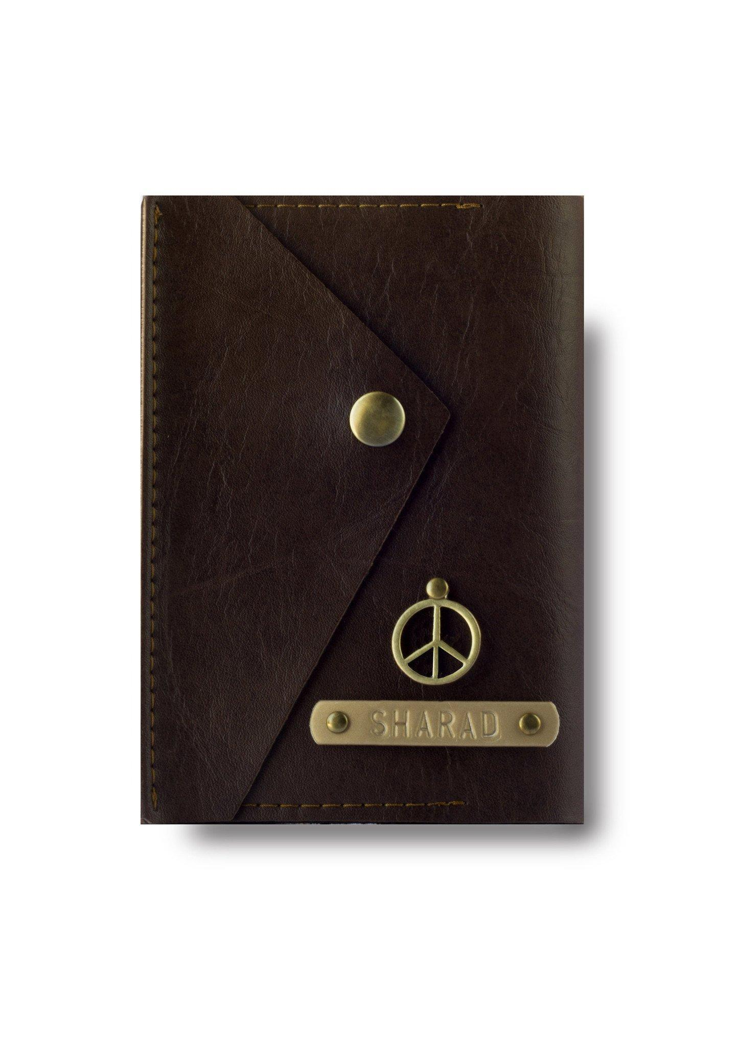 Dark Brown Executive Passport Cover - Themessycorner