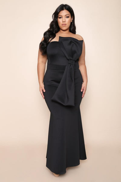 Big Bow Strapless Dress